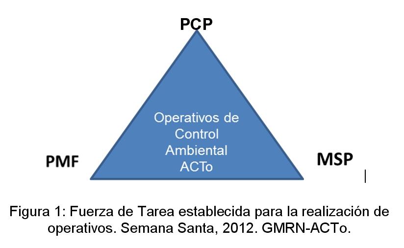 Fuerza de Tarea establecida para la realización de operativos. Semana Santa, 2012. GMRN-ACTo.
