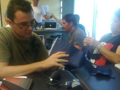 Grupo de personal participante del curso de Emergencias Médicas Pre hospitalarias y Resucitación Cardio Pulmonar. Facultad de Medicina de la UCR. 2012.