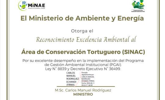 Reconocimiento a la excelencia ambiental